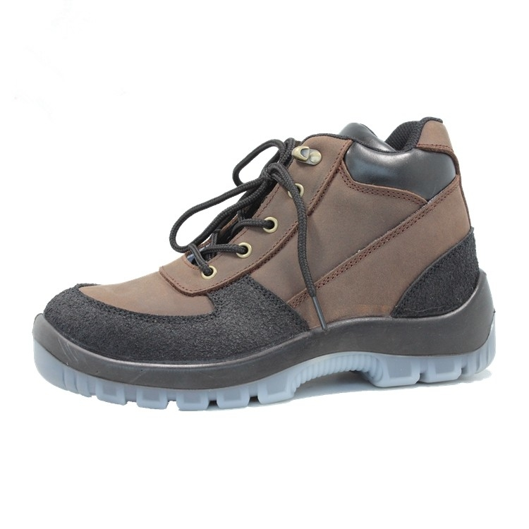 Injection pu/pu  with steel toe cap genuine leather safety shoes